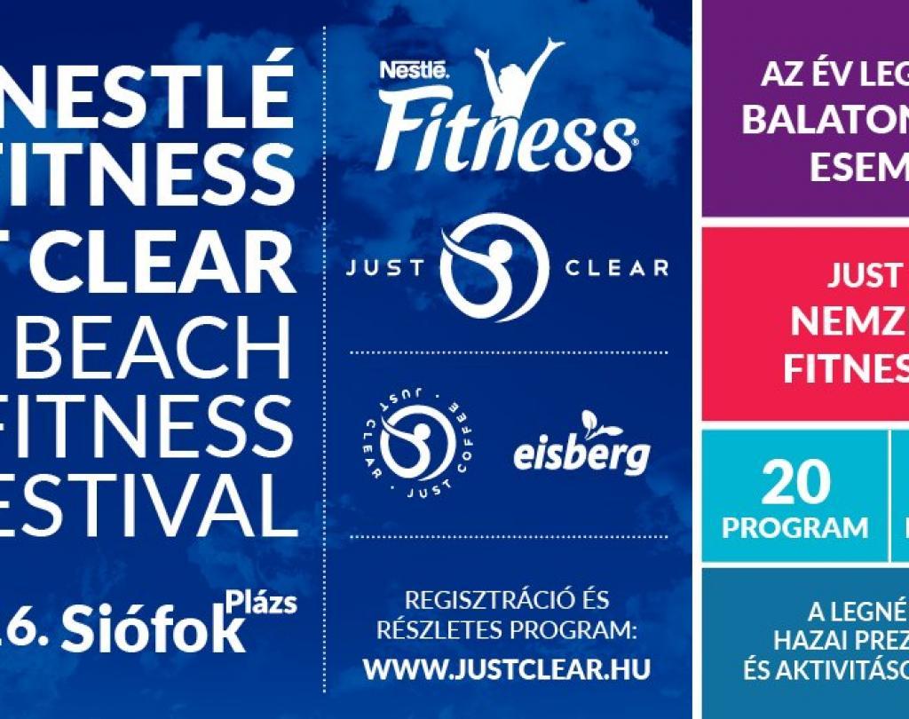 Nestlé Just Clear Fitness Fesztivál 2020. Siófok